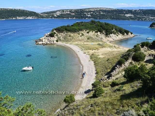 Pláže Chorvatsko Rab